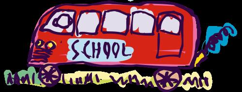 Opstelten schoolbus